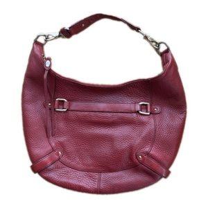 Cole Haan 'village' hobo shoulder bag in red